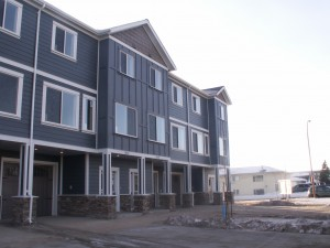 General contracting on new apartment building including concrete work
